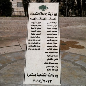 Names of Birzeit University students who have been killed over…
