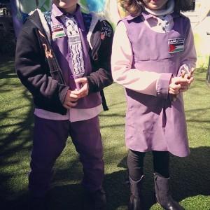 We visited a small kindergarten in Hebron. Their uniform is…